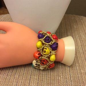 Jewelry - SKULL HEAD BEADES BRACELET